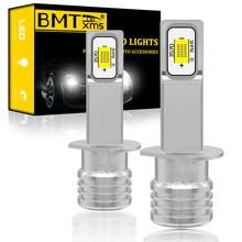 BMTxms-antiniebla lámpara LED H1 para vehículo, luces de circulación diurna DRL 3570 CSP, Canbus sin Error, blanco, cristal dorado, azul, superbrillante, 2 uds.