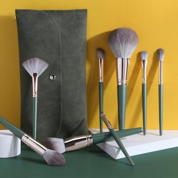 MAANGE 14pcs Makeup Brush Set With Brush Bag Soft High-quality Soft Synthetic Hair Makeup Tool Powder Cream Makeup Mixing Brush