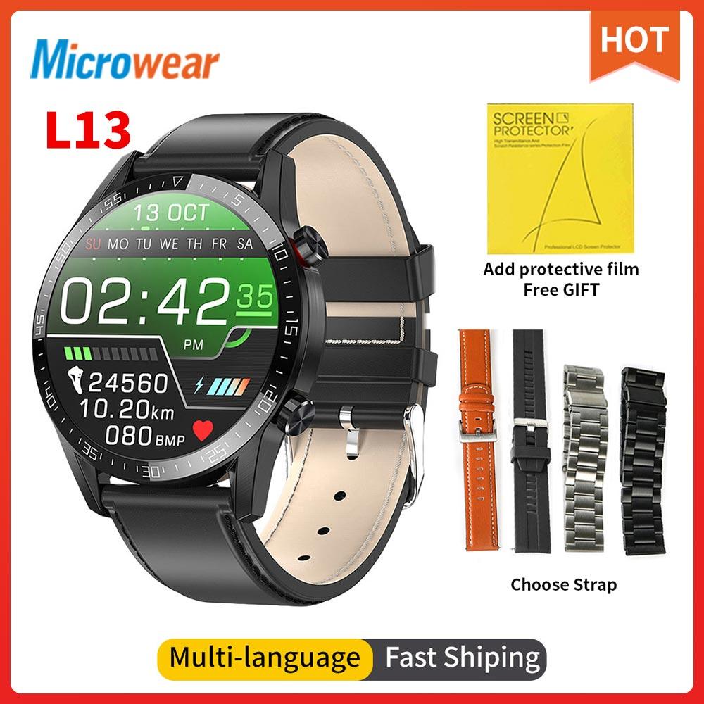 2020 New Microwear L13 Smart Watch ECG Heart rate Bluetooth Call Blood Pressure Sport Watch IP68 Waterproof L16 L15 smartwatch