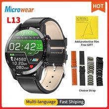 2020 nowy Microwear L13 inteligentny zegarek miernik tętna ekg Bluetooth zadzwoń ciśnienie krwi Sport zegarek IP68 wodoodporny L16 L15 smartwatch tanie tanio CN (pochodzenie) Android OS Na nadgarstku Wszystko kompatybilny 128 MB Passometer Fitness tracker Uśpienia tracker
