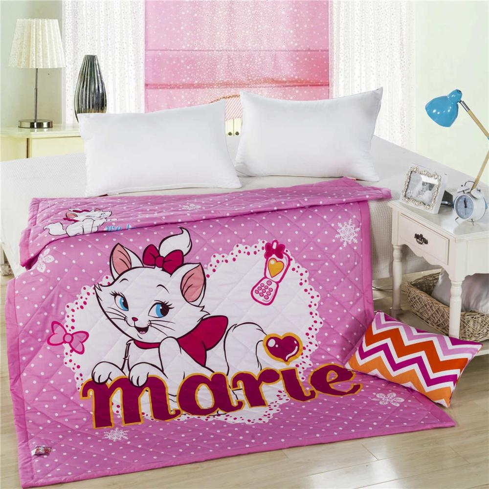 Disney Marie Cat Winnie Throws Blanket Single SIngle Twin Queen Size Thin Comforter Summer Qulit Bed Cover for Girls Gift