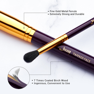 Image 2 - ג סאפ איפור מברשת סט סגול/זהב brochas maquillaje סינטטי שיער קוסמטי ערכת אבקת קרן סומק שפתונים 15pcs