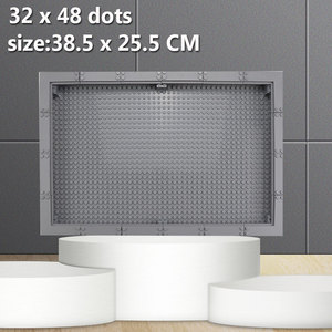Image 5 - Grande taille vitrine/boîte panneau anti poussière 32*48 points plaque de Base bricolage blocs de construction pièces compatibles Figures enfants jouets