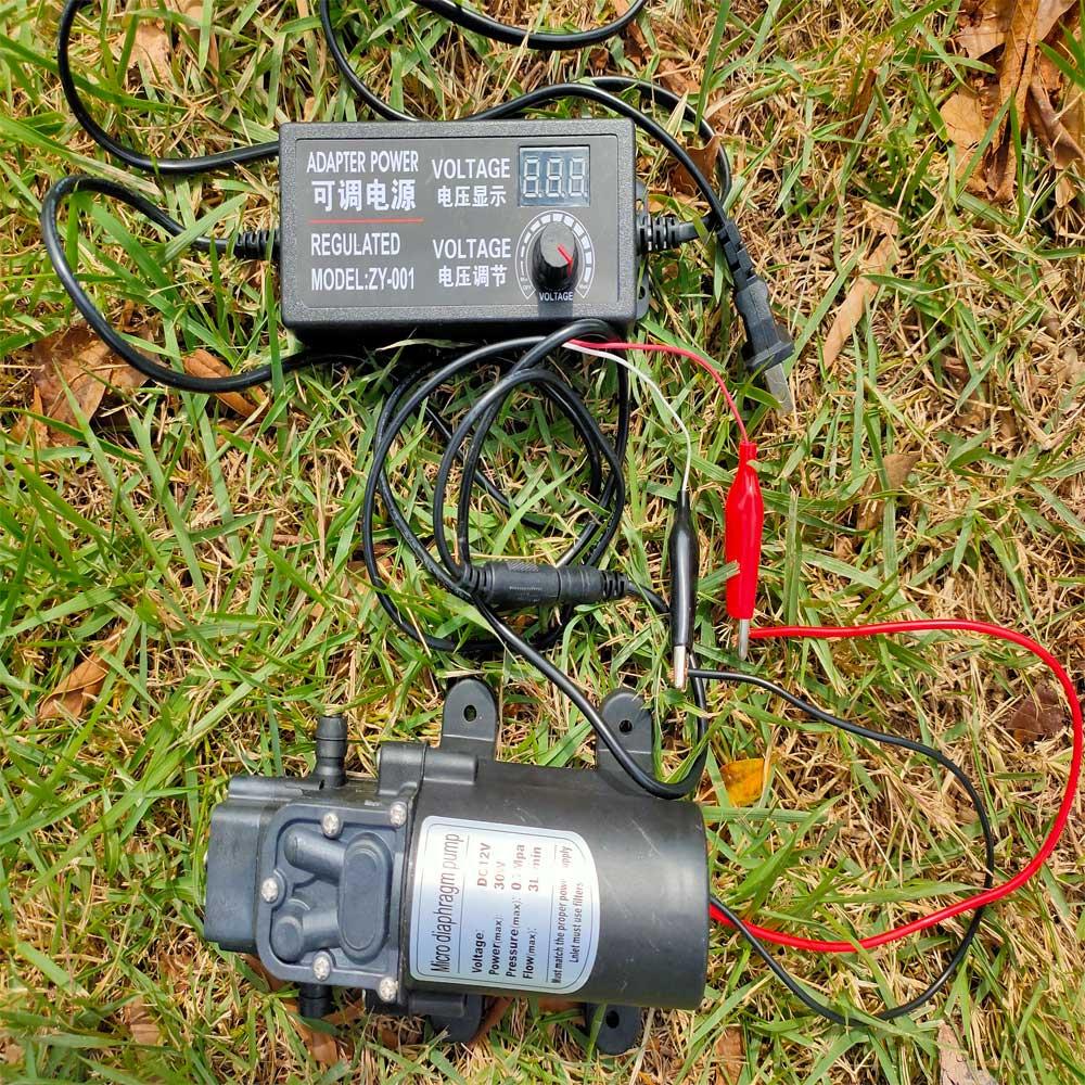 DC 12V 30W 1/2'' Garten Werkzeuge Männlichen Gewinde Interface Micro Membran Wasserpumpe mit 3-12V 5A Adapter power Bewässerung System