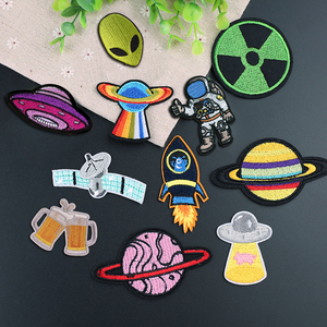 UFO Astronaut Planet Patches Ironing on Patches for clothing Girls Boys Jeans Stripes Stickers Alien patch Embroidered Badges