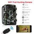 Wifi Trail Kamera Fernbedienung Jagd Kameras 20MP 1080P Nacht Vision Wildlife APP Foto Fallen Drahtlose Überwachungs Kamera auf