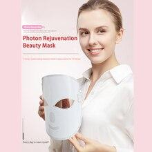 Светодиодный фотонный маска для красоты и омоложения кожи, светодиодный маска для лица, терапия против морщин, акне, средство для подтягивания кожи лица