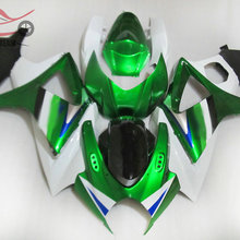 100% Injection mold fairings kit for Suzuki GSXR 1000 K7 2007 2008 green white Chinese aftermarket fairing parts GSXR1000 07 08