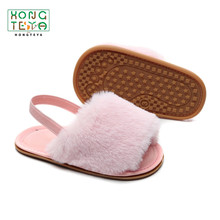 Shoes Sandals Baby-Girls Slippers First Toddler Infant Walking Summer New Fur Moccasins