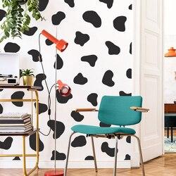 50 pçs ponto vaca polka dot adesivo de parede geladeira quarto bonito vaca impressão ponto ponto decalque da parede geladeira crianças quarto vinil decoração