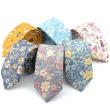 Cravate florale pour hommes et femmes, Texture douce, nouveau Style, 100% coton, fait à la main, cravate de mariage, accessoire cadeau, tenue décontractée