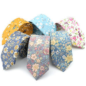 Image 1 - New Style Floral Brisk Soft Texture Tie 100% Cotton For Men&Women Casual Dress Handmade Adult Wedding Tuxedo Tie Accessory Gift