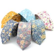 W nowym stylu kwiatowy Brisk miękka tekstura krawat 100% bawełna dla mężczyzn i kobiet Casual Dress Handmade dorosły smoking ślubny krawat akcesoria prezent