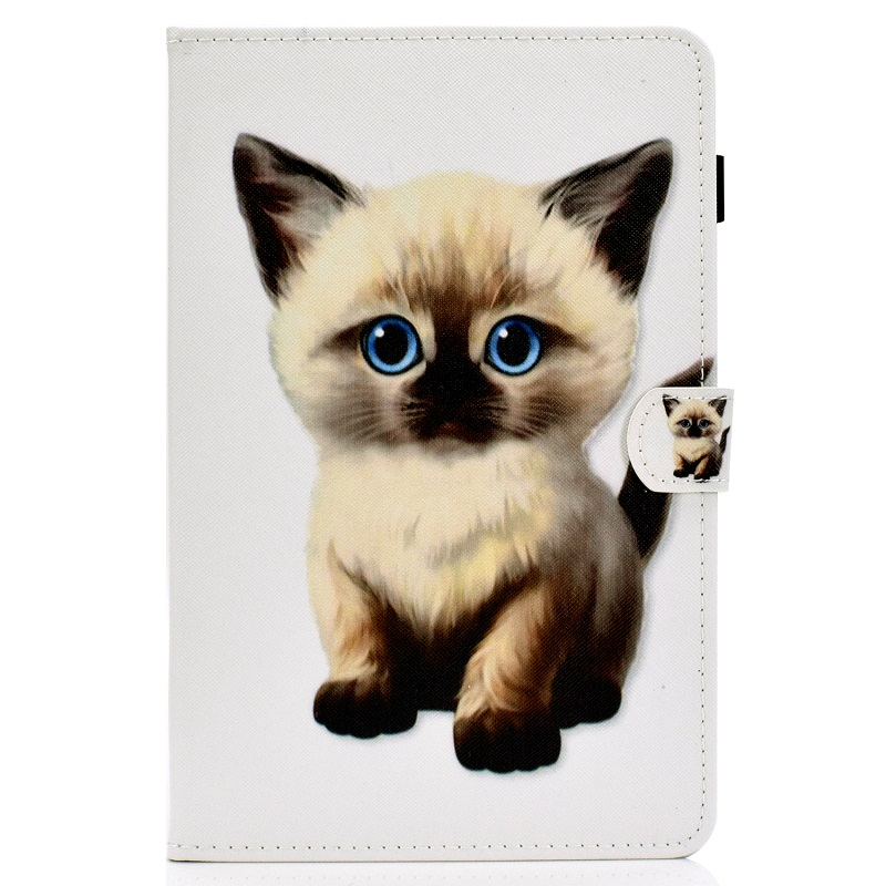 2 White For New iPad 10 2 inch model A2197 Cover Painted Puppy Cat Unicorn Leather Book Stand