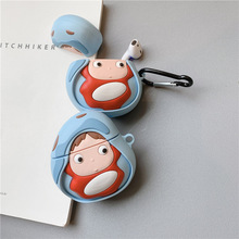 Teyomi 3D Cartoon Cute Ponyo Little Girls Case For Airpods 1/2 Silicone Headphone Earphone Cover