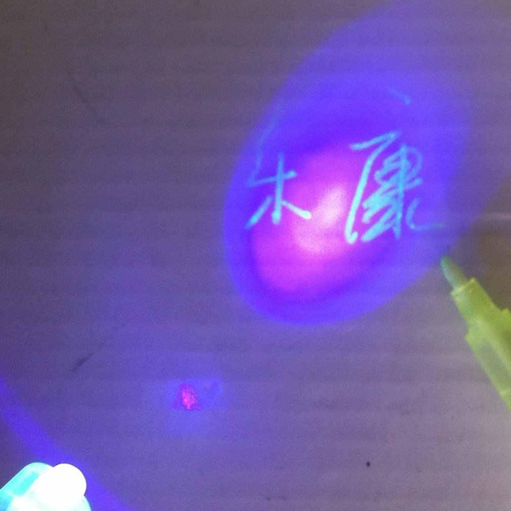 LED صديقة للبيئة غير مرئية الأشعة فوق البنفسجية غير مرئية الحبر علامة الأمن المزيفة القلم