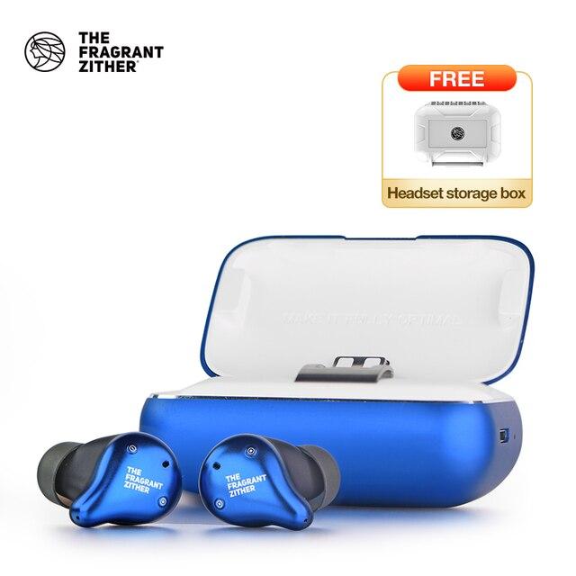 Tfz X1 tws bluetoothイヤホン、twsワイヤレスヘッドフォン100 + 時間2200mah充電すべてのスマートフォン