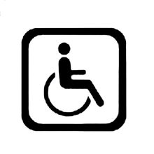 15cm x personality man in wheelchair sign on the car sticker
