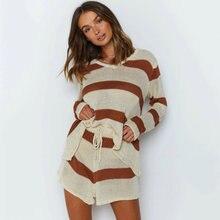 Модный новый вязаный свитер наборы для женщин одежда отдыха
