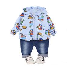 Новинка одежда для маленьких девочек на весну и осень Детская