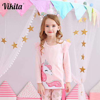 Girls Unicorn T shirt Baby Cotton Tops Toddler Tees Clothes Children Clothing T-shirt for