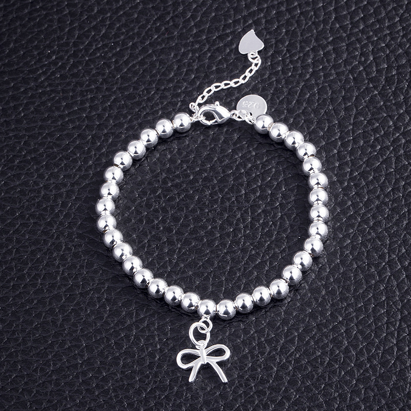 Ethnic Minimalist Charm Bracelets Women Bead Chain Bowknot Dainty Thin Bow Bracelet Jewelry Female Girl Cute in Chain Link Bracelets from Jewelry Accessories