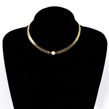 Fashion Personality Aircraft Chain Necklace Women Simple Trendy Pearl Clavicle Necklace Collares Jewelry 2018 new simple popular electrocardiogram necklace for women fashion jewelry clavicle chain collares
