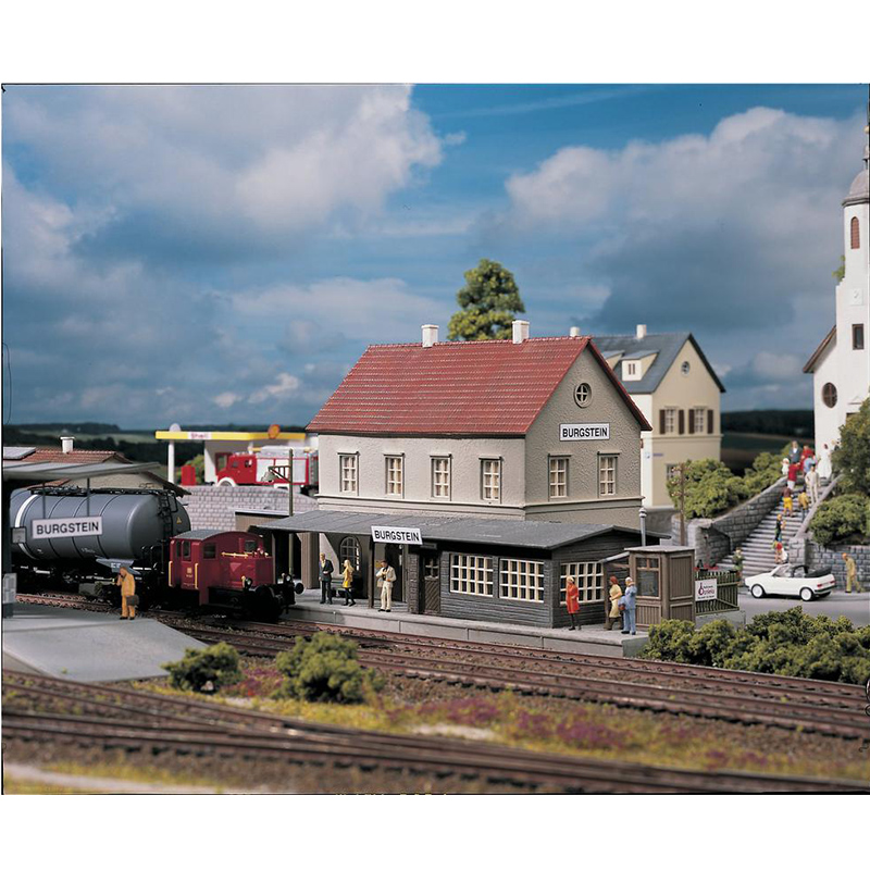 HO Ratio  1:87  Germany  Train Model Building  Railway Station House #61820  Sand Table Building Model  ABS  Assemble