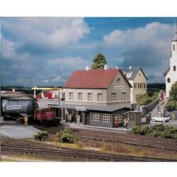 Proporção HO 1: 87 Alemanha Estação Ferroviária de Trem modelo de construção Casa #61820 Areia tabela modelo de construção ABS Montar