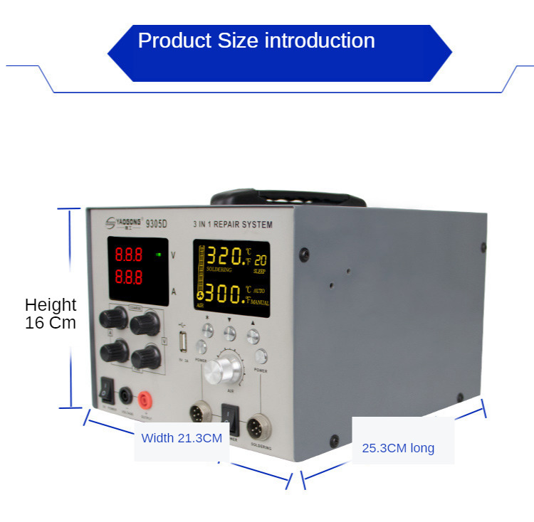 800W Multi-function Large Screen Digital Yaogong 9305D Hot Air Gun Desoldering Station Electric