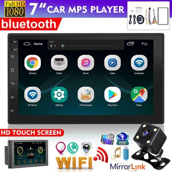 7 2 din Android 8.1 HD Car Multimedia Player Autoradio Car Radio Touch Screen bluetooth Wifi GPS FM MP5 Player Rear View Camera image