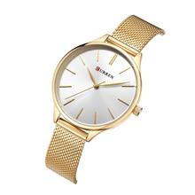 цена на CURREN Female Watch Trendy Quartz Gold Watch Luxury Brand Woman Watch 2019 Stainless Steel Wristwatch Waterproof Bayan Kol Saati
