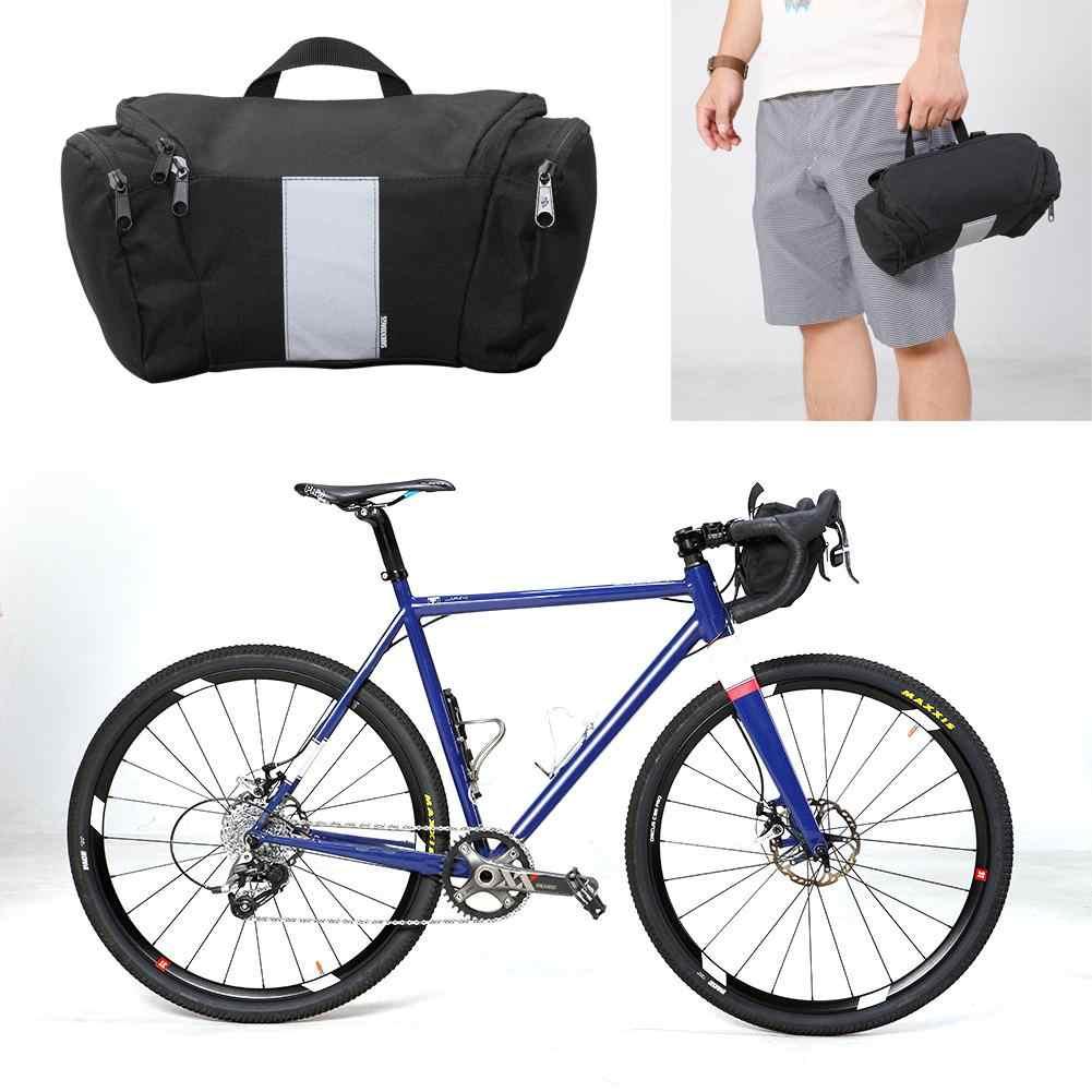 SAHOO Waterproof Bicycle Handlebar Bag 3L Cycling Bike Front Basket PVC Bags