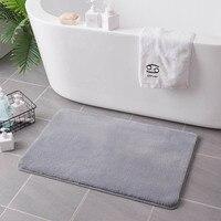 Anti Slip Bath Mat Bathroom Carpet Fur Bathtub Mat Pad Bedroom Bedside Foot Rugs