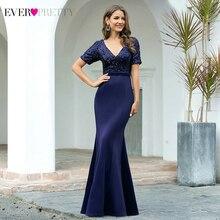 Formal-Dress Evening-Dresses Ever Pretty Elegant Short-Sleeve Sequined Robe-De-Soiree