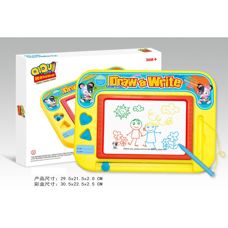 Children Early Education Toy Color Magnetic Stamp Sketchpad Drawing Doodle Board Magnetic Drawing Board
