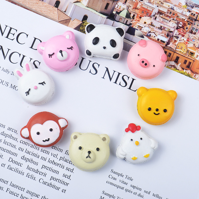 Animal Macaron Slime Supplies Charms For Diy Polymer Filler Addition Slime Accessories Toys Lizun Clay Kit For Children