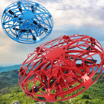 RC Mini Drone Flying Quadrocopter UFO Hand Sensing Aircraft Induction Helicopter UFO RC Drone Flying Ball Toys For Children Gift global drone 2ch remote control spaceman helicopter induction aircraft toy helicopter drone indoor children gift toys