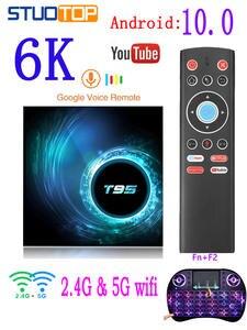 2020 latest T95 smart tv box android 10 tv box 4k 6k 4g 32gb 64gb Quad core iptv set-top box allwinner h616 mini media Player