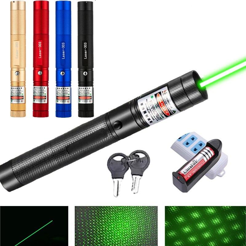Poderoso militar 8000m ponteiro laser verde com focalizável ponteiro laser lâmpada queima feixe verde estrelado caça ao ar livre las