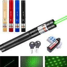 Мощная военная Зеленая лазерная указка 8000 м с фокусируемой лазерной указкой, лампа с горящим лучом, Звездный зеленый луч, уличная Охота