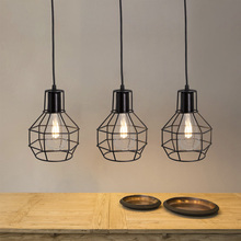 Loft Vintage Hanging Lamps Iron Cage Pendant Lights Home Decor Suspension Luminaires Kitchen Light Fixtures Bar 5W E27 Lights vintage loft led pendant lights black metal hanging lmaps pendant lamps luminaires industrial decor lighting fixtures avize