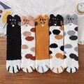 Носки с кошачьими ушками женские теплые носки с героями мультфильмов зимние толстые носки милые носки-тапочки для женщин и девочек носки с ...
