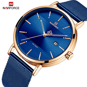 Image 2 - NAVIFORCE Fashion Couple Watch Mesh steel belt Women Watches Top Luxury Brand Waterproof Women Watches Reloj Mujer