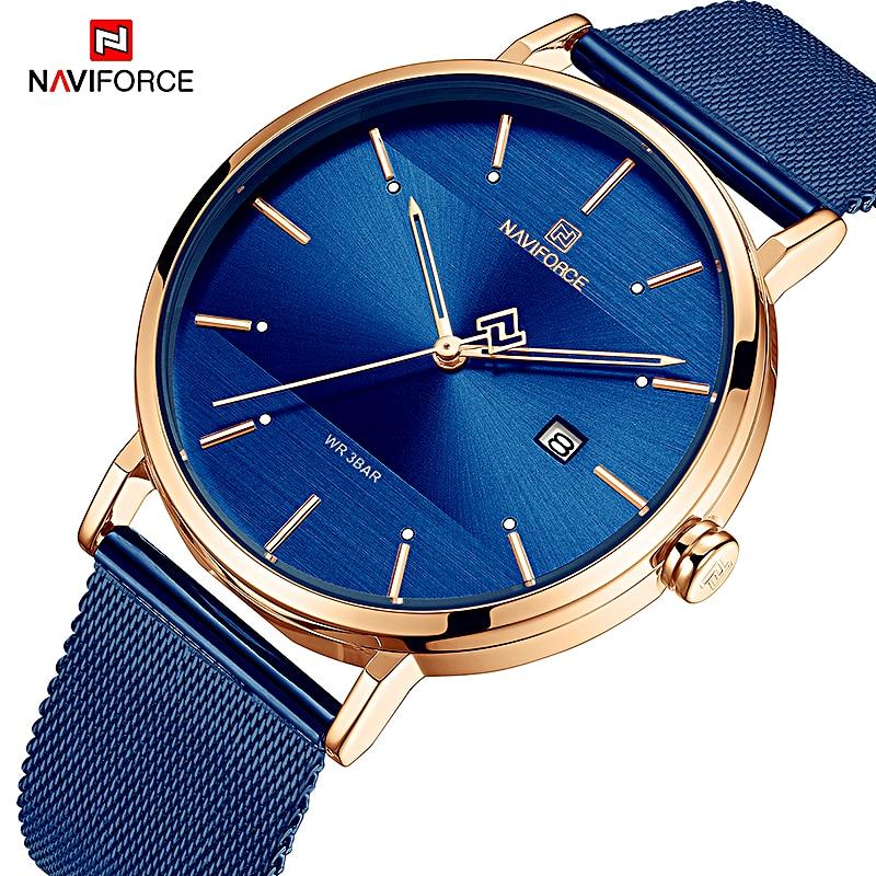 Marca de Luxo à Prova Naviforce Relógios Femininos Dwaterproof Água Relógio Moda Casal Pulseira Donna Orologio Reloj Mujer