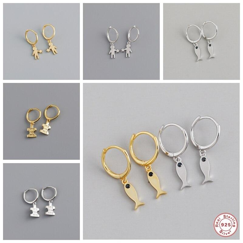 2020 Solid 925 Sterling Silver Dangle Earrings For Women Lovers' Girls Long Pendant Pendientes Mujer Drop Earrings Charm Jewelry