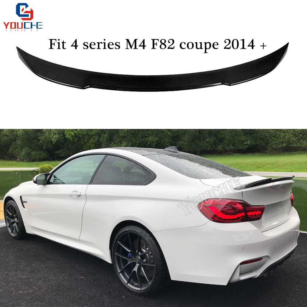 F82 M4 CS Style Spoiler Wings Carbon Fiber Rear Trunk Lip Car Styling for BMW 4 series F82 M4 Coupe 2014 +|Spoilers & Wings| |  - title=