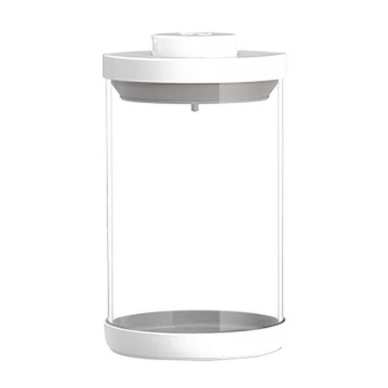 Glass Sealed Jar Kitchen Storage Bottles With Cover Vacuum Caps Sugar Candy Tea Box Food Storage Glass Jar No Lead