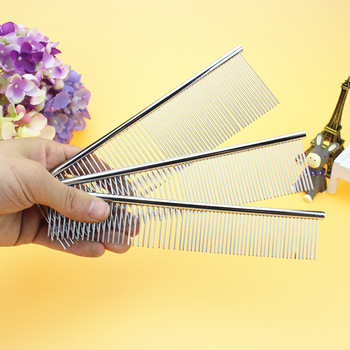 Pet Comb Cleaning Tool Lice Brush Pet Supplies Cat Dog Comb Hair Fur Removal Brush Flea Comb Dogs Cats Pet Grooming Fine-toothed double side pet fur dog brush comb rake hair brush cat grooming deshedding trimmer tool dog comb pet brush rake 12 23 blades