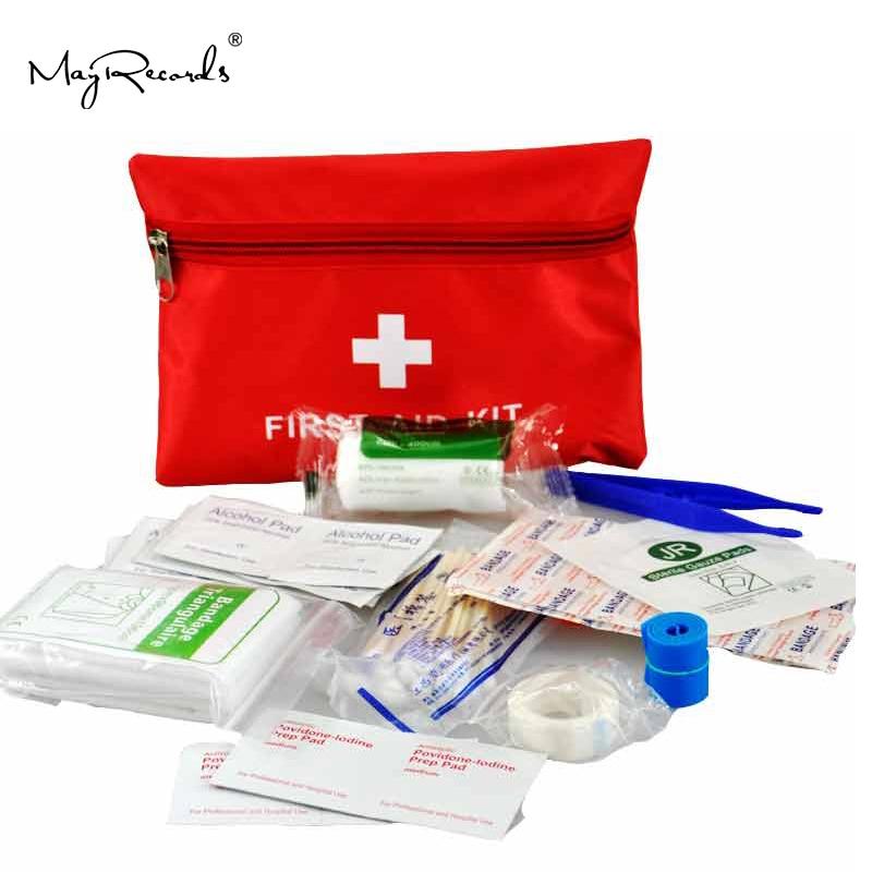 Livraison gratuite imperméable à l'eau Mini voyage en plein air voiture trousse de premiers soins maison petite boîte médicale kit de survie d'urgence ménage